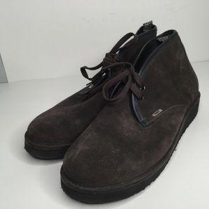 Alberto Guardiani men suede boots.
